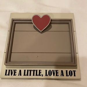 Live a little love a lot picture frame
